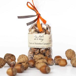 friandises de noix et noisettes caramelisées en Savoie, fabrication artisanale